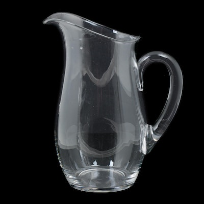 Steuben Art Glass Pitcher, Mid to Late 20th Century