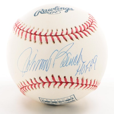 Johnny Bench Signed MLB/Hall of Fame Baseball  COA