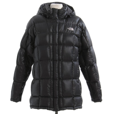 Women's The North Face Black Nylon Quilted Down Puffer Jacket