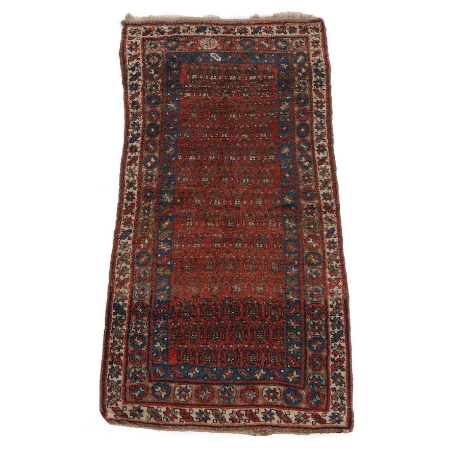 3'7 x 7'1 Hand-Knotted Persian Borujird Wool Rug