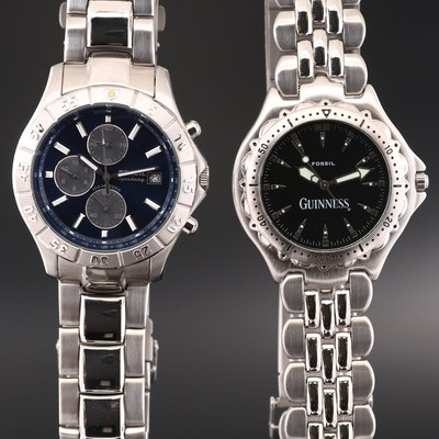 Fossil Speedway and Fossil Guinness Quartz Wristwatches