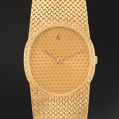 Vintage Audemars Piguet 18K Yellow Gold Stem Wind Wristwatch