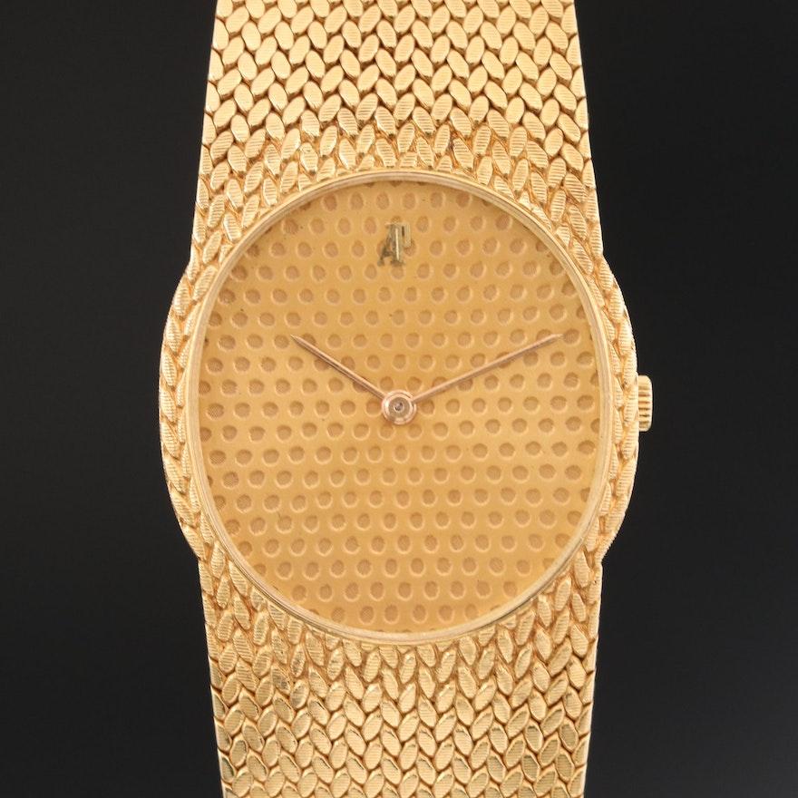 Vintage Audemars Piguet 18K Yellow Gold Stem Wind Wristwatch