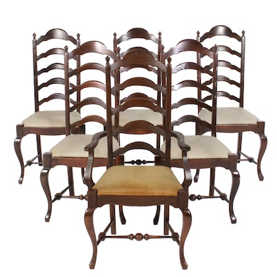 Cushman Classics Louis XV Style Ladderback Dining Chairs