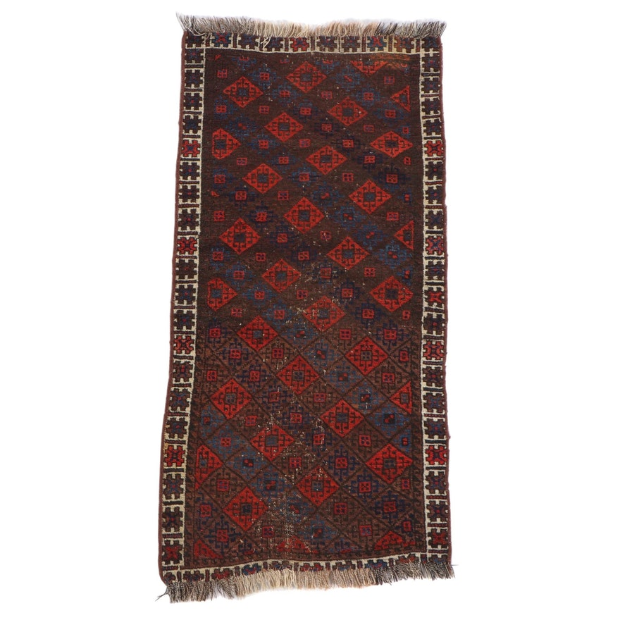 2'3 x 5'0 Hand-Knotted Afghan Baluch Wool Rug