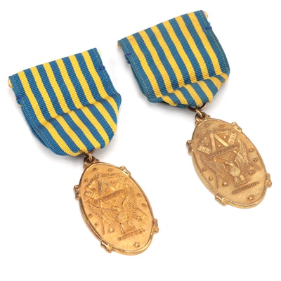 Masonic National Sojourners Medals by Dieges & Clust of New York