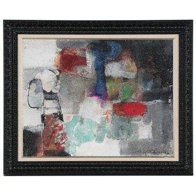 "Mark Whitmarsh Mixed Media Painting ""Textural Interplay"""