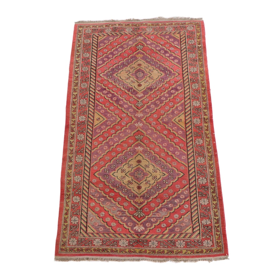 5'1 x 9'3 Hand-Knotted Persian Shiraz Wool Rug