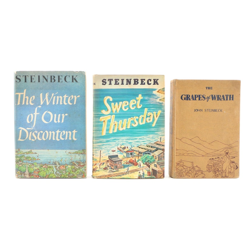 """""""Winter of Our Discontent"""", Grapes of Wrath"""" and """"Sweet Thursday"""" by Steinbeck"""