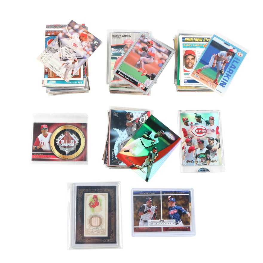 Barry Larkin Cincinnati Reds Baseball Cards Including Rookies