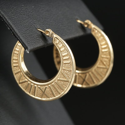 14K Yellow Gold Roman Numeral Earrings