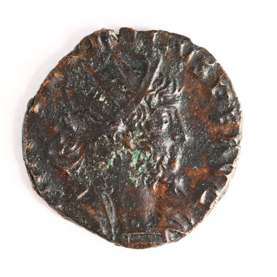 Ancient Roman Imperial AE Antoninianus Coin of Tetricus I, Ca. 273 A.D.