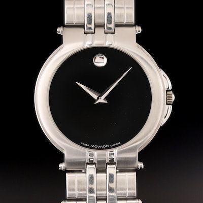 Movado Museum Stainless Steel Quartz Wristwatch