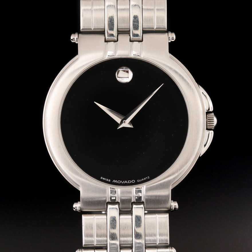 Movado Museum Stainless Steel Quartz Wristwatch