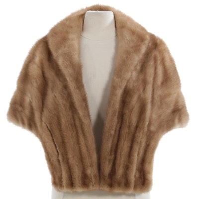 Mink Fur Stole by The Fashion of Columbus, Vintage