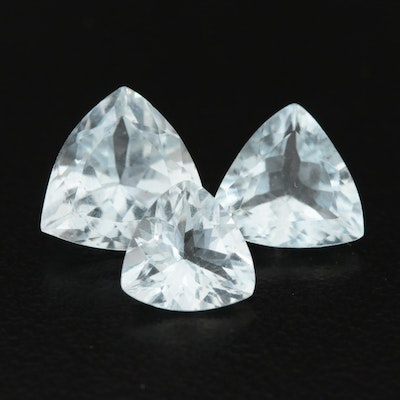 Loose 4.47 CTW Aquamarine Gemstones