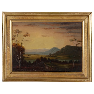 Nasmyth School Style Scottish Landscape Oil Painting, Late 19th Century