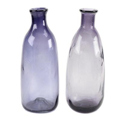 Purple Blown Glass Vases