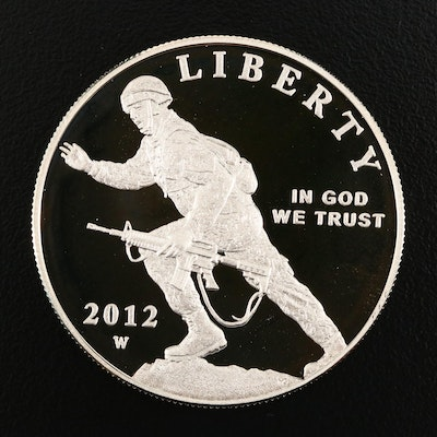2012-W Infantry Commemorative Silver Dollar Proof Coin