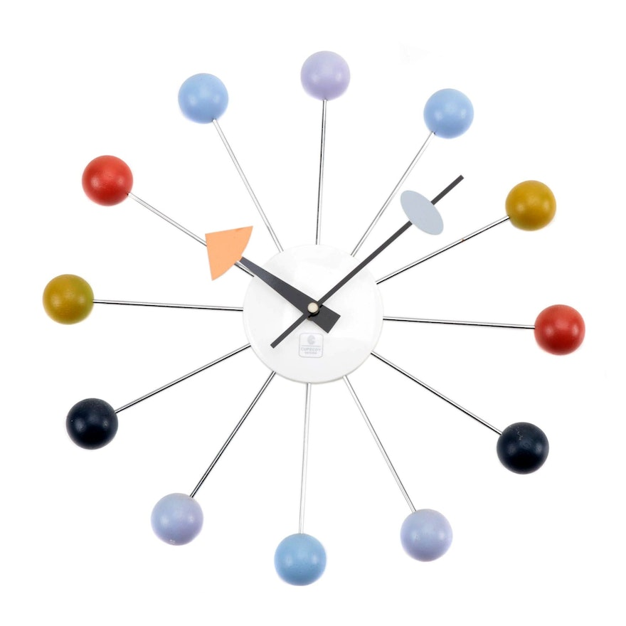 Mid Century Modern Style Wall Clock by Cupecoy Design