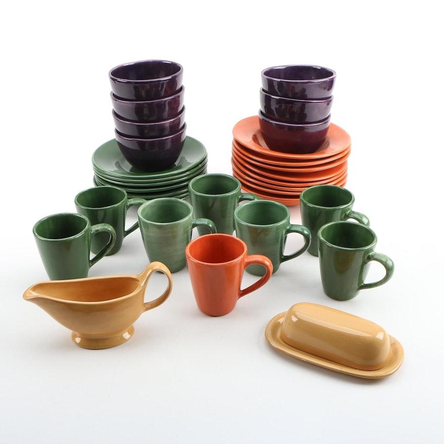 "Pottery Barn ""Sausalito"" Earthenware Dinnerware, Late 20th Century"