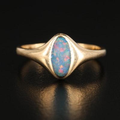 Kabana 14K Yellow Gold Opal Ring