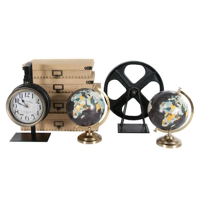 Mercana Hanging Mantel Clock, Globes, Storage Boxes and Décor