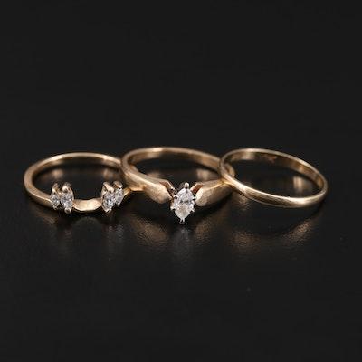 14K and 10K Yellow Gold 0.47 CTW Diamond Ring Set
