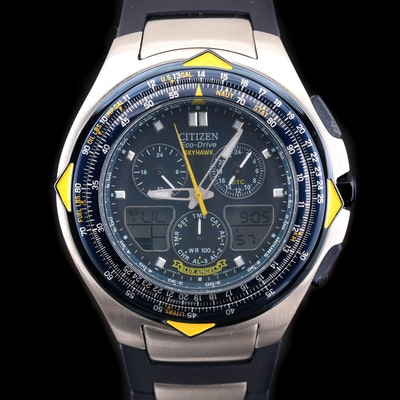 Citizen Eco - Drive Blue Angels Sky Hawk Stainless Steel Wristwatch