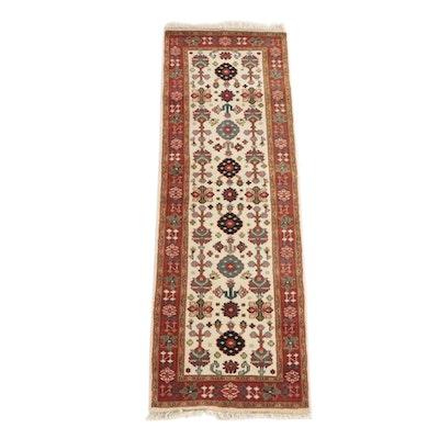 "2'6 x 7'9 Hand-Knotted Indian Khazai Rugs ""Agra"" Wool Carpet Runner"