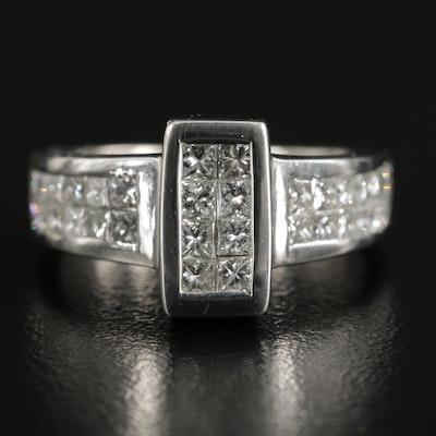 18K Invisible Set 1.60 CTW Diamond Ring