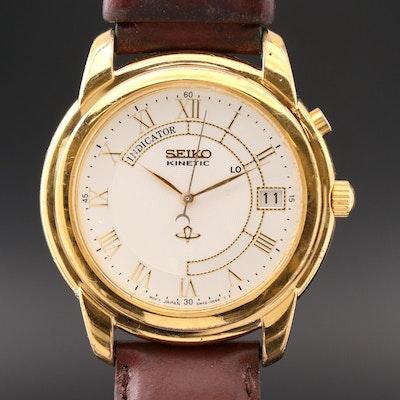 Seiko Kinetic Gold Tone Wristwatch