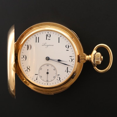 Longines 18K Minute Repeater Hunting Case Pocket Watch