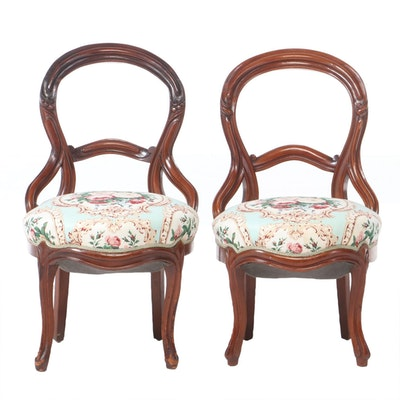 Two Rococo Revival Carved Walnut Side Chairs, Third Quarter 19th Century