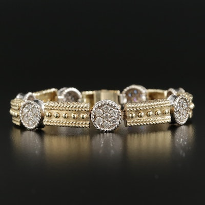 14K Yellow and White Gold 2.94 CTW Diamond Bracelet