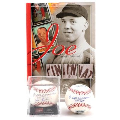 Marty Brennaman and Joe Nuxhall Signed Baseballs and Book