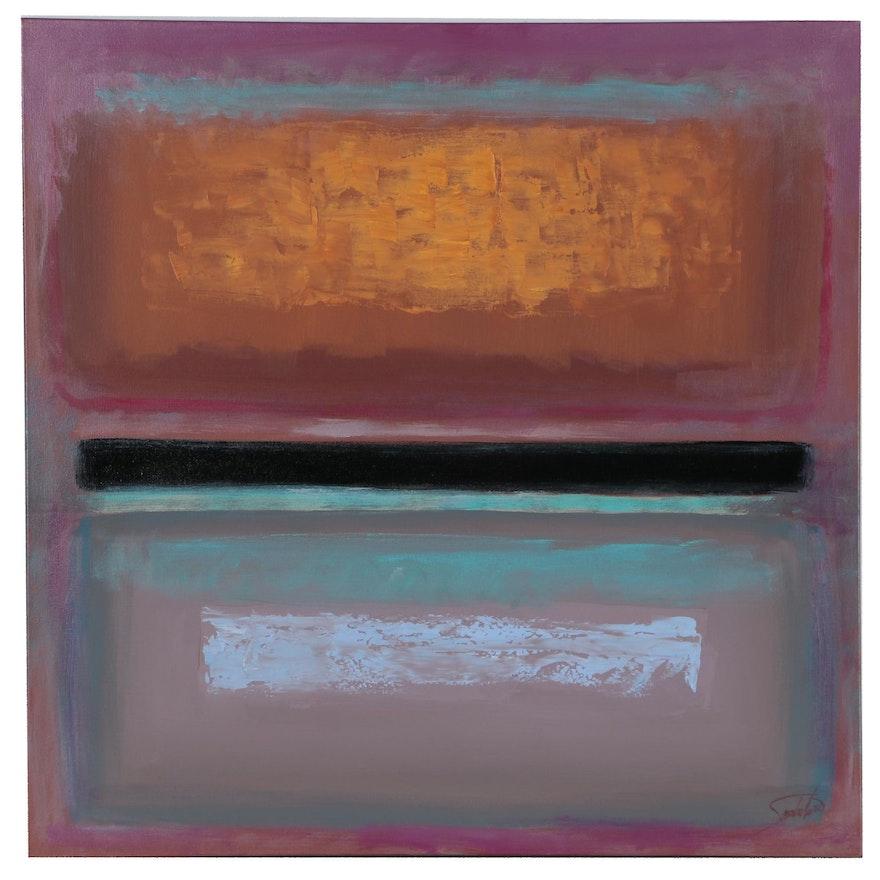 Joe Sambataro Abstract Color Field Acrylic Painting