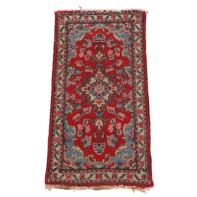 1'7 x 3'0 Hand-Knotted Persian Avakian Bros. Kashan Wool Rug
