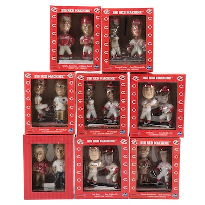 "Kroger ""Big Red Machine"" Dual Player Bobble Head Dolls Original Packaging"