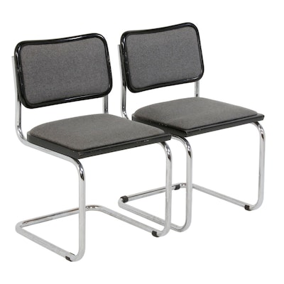 "Pair of Breuer ""Cesca"" Style Cantilever Side Chairs, Mid to Late 20th Century"