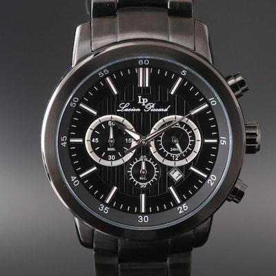 Lucien Piccard Monte Viso Black Ionic Stainless Steel Quartz Chronograph Watch