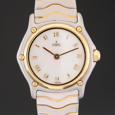 Ebel Classic Mini Wave 18K Gold and Stainless Steel Quartz Wristwatch