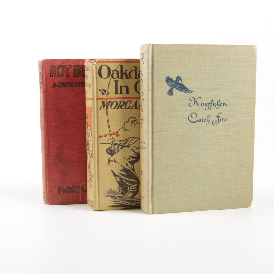 "First Edition ""Oakdale Boys in Camp"", ""Kingfishers Catch Fire"" and ""Roy Blakely"""