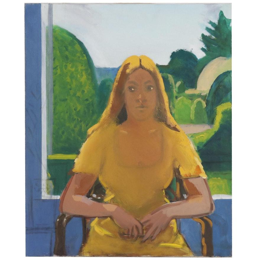 Peter Rappoli Oil Painting of Female Figure