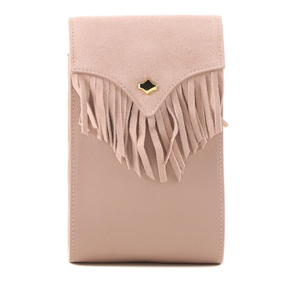 ANY DI Munich Phone Bag Fringes in Blossom Suede and Leather