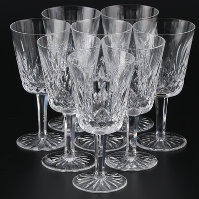"Waterford Crystal ""Lismore"" Water Goblets, Mid/Late 20th Century"
