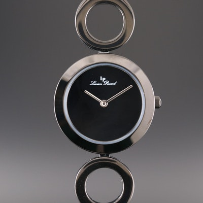 Lucien Piccard Black Ionic Plated Stainless Steel Quartz Wristwatch