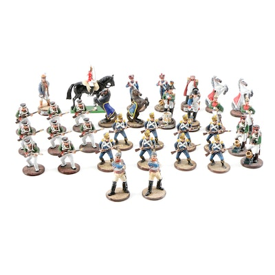 Napoleon vs Alexander I Diecast Metal Chess Piece Set