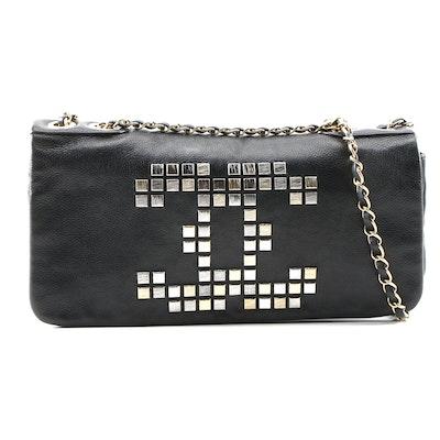 Chanel Mosaic CC Shoulder Bag in Black Leather