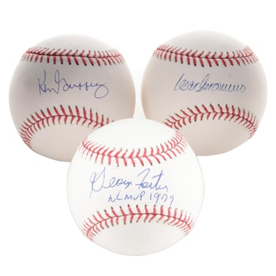 Griffey, Geronimo and Foster Single Signed Major League Baseballs